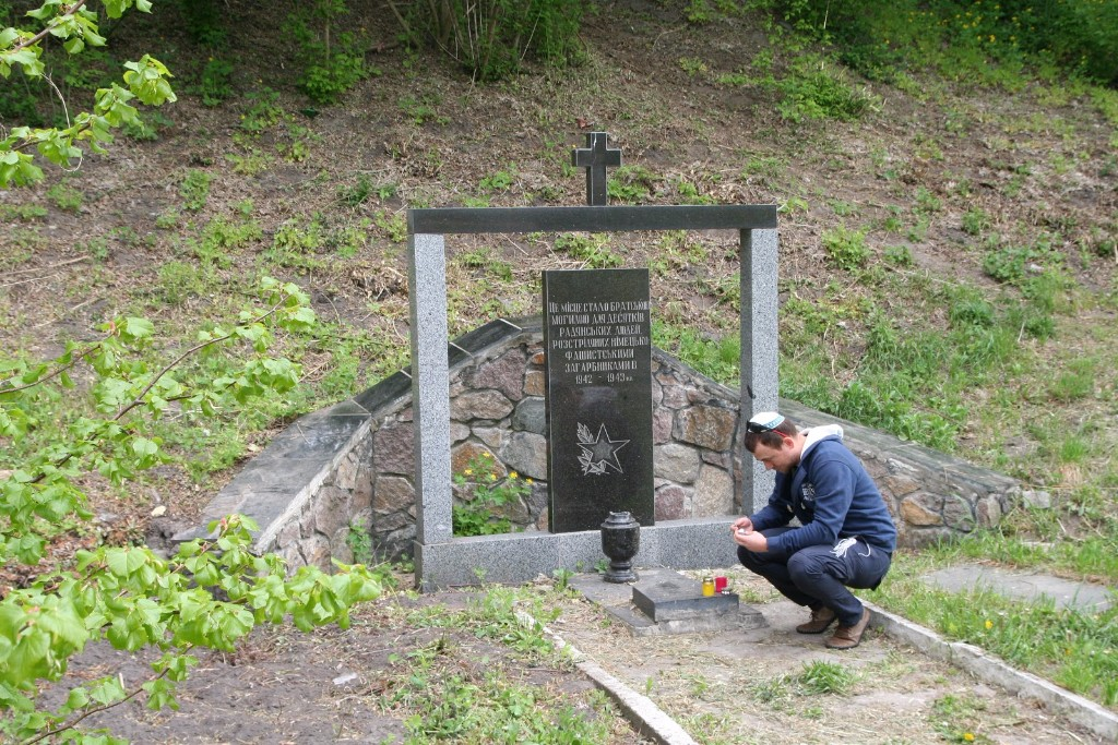 Holocaust mass grave in Makarov