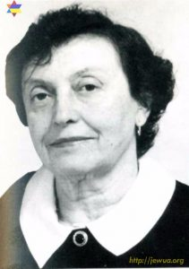 Tsilia Gehtman (1931-2018), head of Pereyaslav Jewish community in 1991-2015