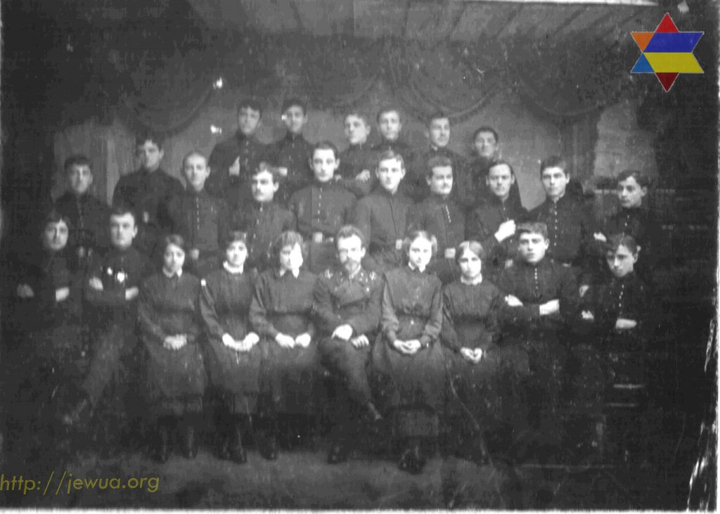 Group of students in Sheftel secondary school