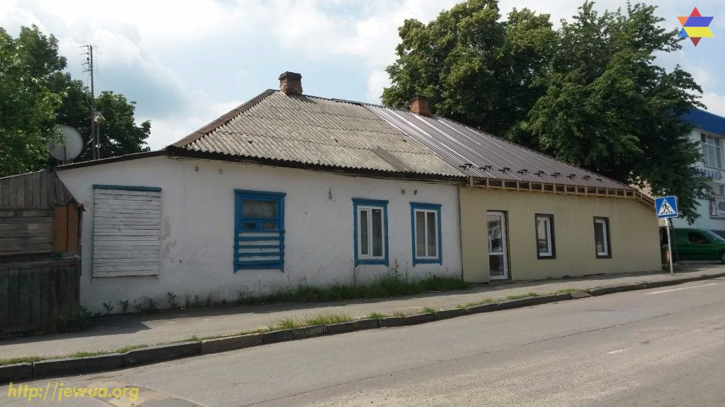 Former Jewish house in the center of Malin, 2017