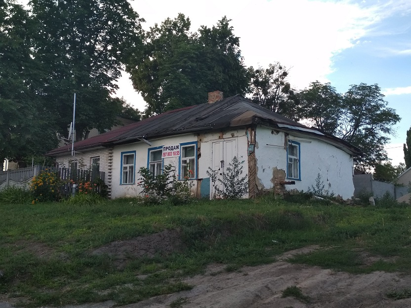 Old Jewish house in the center of Kagarlik, 2018