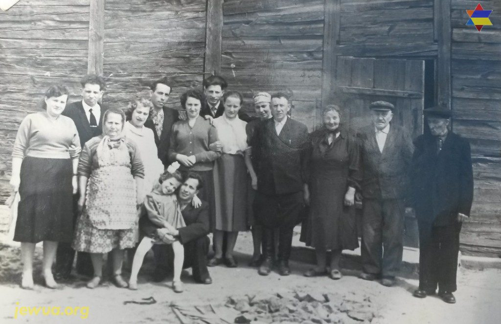 Jewish family in Luginy after the WWII