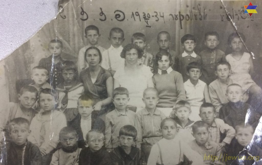 Jewish school in Olevsk, 1934. Photo provided by MIsha Shapiro in 2017