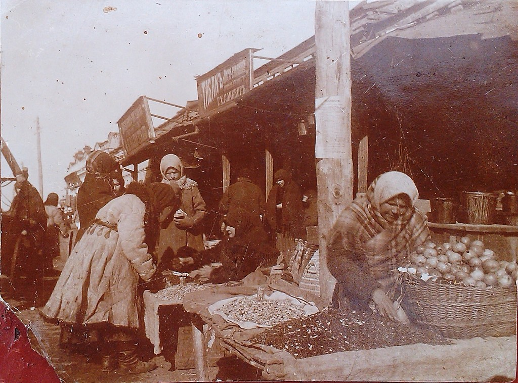 Market in Smela, beginning of XX century