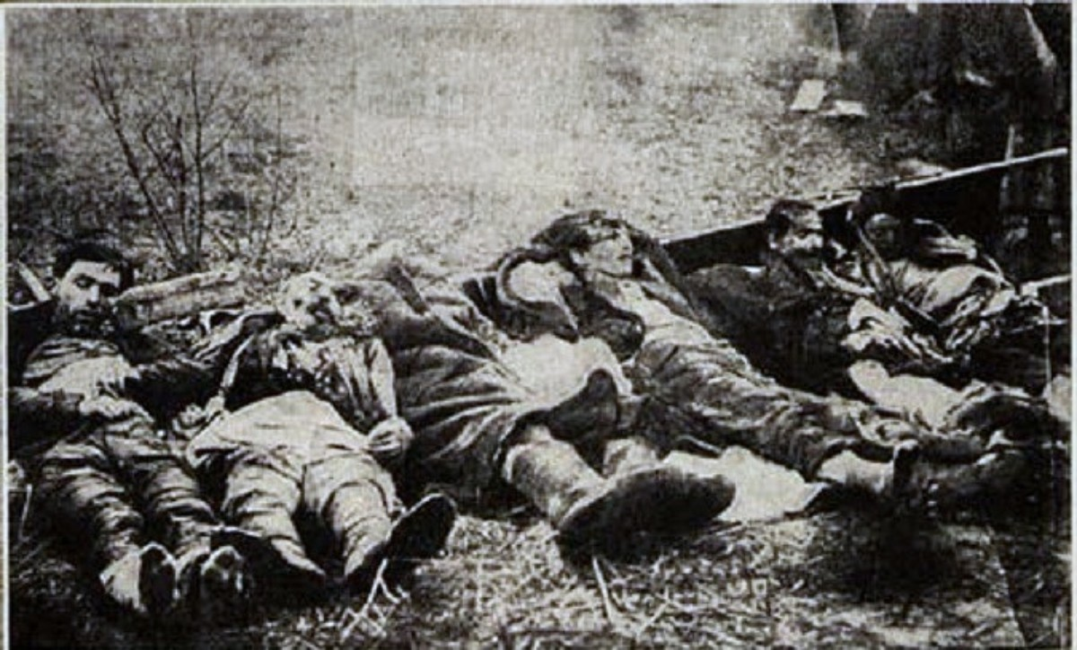 Pogrom victims in Smela, 1919