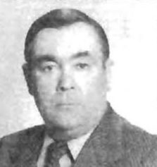 Ivan Kuravskiy (1919-2003), head of Ukrainian auxiliary police in Tetiev 1941-1943, organizer of the Holocaust in Tetiev district. His father Overkiy Kuravskiy exterminated Jewish community of Tetiev in 1919. Ivan was lucky to escape with Germans and died in US in 2003. Hope, he will burn in hell for eternity