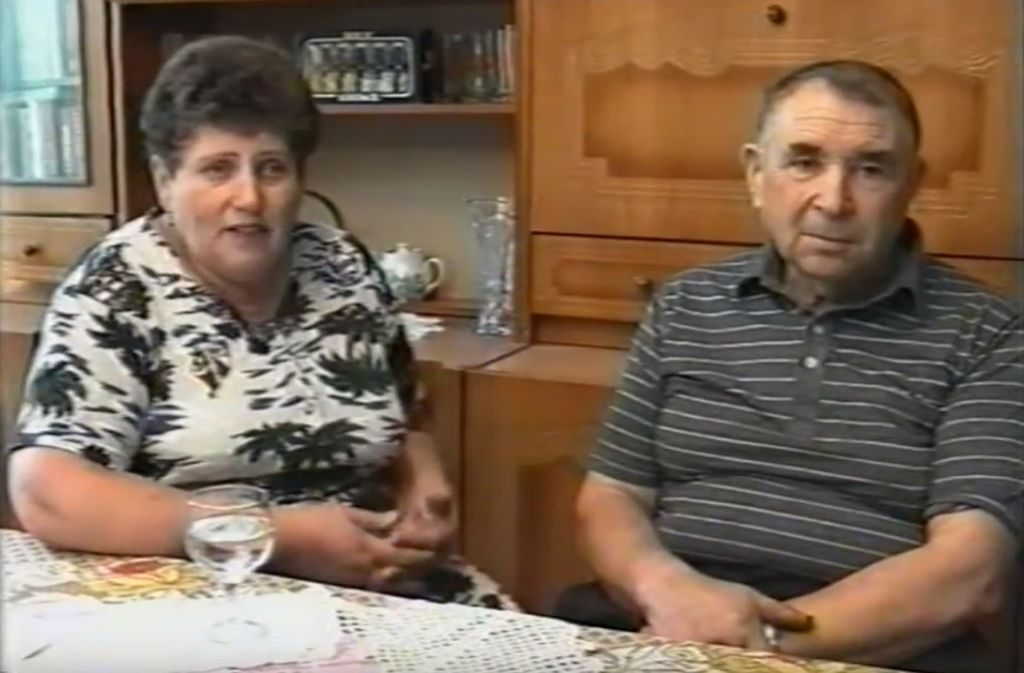 Aleksandr Anchipolovsky (1934-2008) with his wife Gretta (1942-2014) during interview for Shoa Foundation, 1994