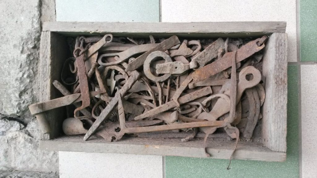 Collection of the teacher of local school Konstantin Palamarchuk who lived in the blacksmith's neighborhood ( Kusnezhnaya Str.) and found all these metal manufactures in the ground