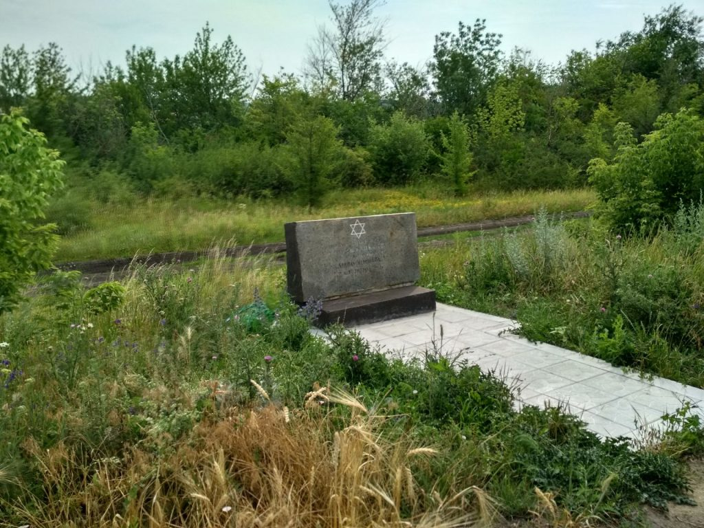Holocaust memorial near Novogeorgiyevka village, 2018